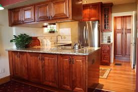 cherry with dark glaze kitchen
