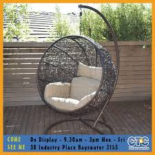 outdoor egg swing the trully outdoor wicker swing chair hanging