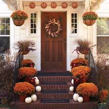 Fall Decorations For Outside The Home 401 Best Fall Porches And Outdoor Displays Images On Pinterest