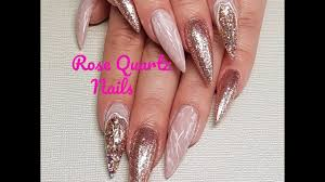 rose quartz nails new nail trend summer 2017 youtube