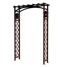shop garden craft 4 33 ft w x 6 55 ft h expresso garden arbor at