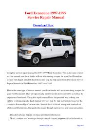28 1999 ford e150 owners manual 35542 sell used 1999 ford e