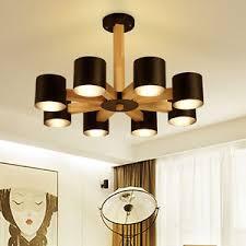 Simple Chandelier New Wood Log Style Modern Simple Living Room Bedroom