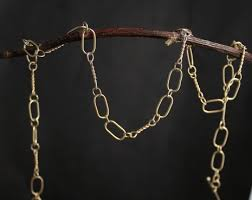 chain link necklace images Handmade gold chain solid 14k yellow gold chain link necklace jpg