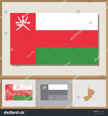 Oman Flag Wallpaper National Flag Country Silhouette Oman Stock Vector 251776960