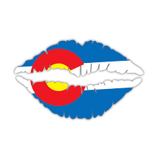 Flag It Stickers Colorado State Flag Lips Custom Vinyl Snowboard Kiss Decal