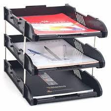 Paper Organizer For Desk Office Filing Trays A4 Document Desk Riser Letter Paper Storage