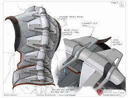 back protector industrial design product rendering sketch