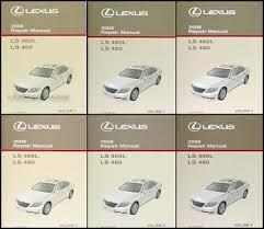 lexus ls 460 length 2008 lexus ls 460 and 460l repair shop manual original 6 volume set