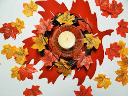 dollar tree crafts thanksgiving autumn leaf candle centerpiece diy