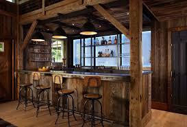 home bar interior design western saloon style décor ideas
