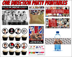 one direction party supplies printable one direction party supplies this 1d party kit comes