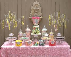 baby shower candy table for a country casual baby shower in a cute ventura ca backyard colors