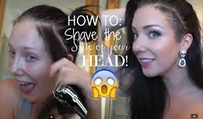 how to shave the side of your head fail jade madden youtube