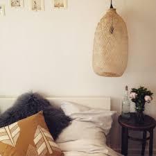 couette en bambou suspension en bambou tressé forme ovale