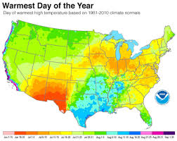 Map Of Northeast Region Of The United States by Map Shows When Summer Heat Peaks In Your Town Climate Central