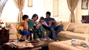 Family  Reading  Living Room  India  HD Stock Video 707683902