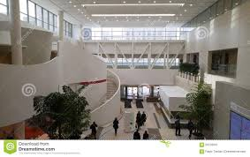 modern hospital lobby editorial photography image 65276037