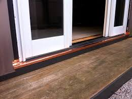 Patio Door Sill Sliding Door Rot Repair Copper Pan Sapia Sapia Builders Corp