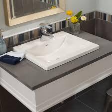 studio drop in bathroom sink american standard bathroom sinks studio drop in sink white
