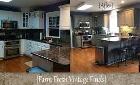 Foil Kitchen Cabinets Painting Thermofoil Kitchen Cabinets The Big Reveal Farm