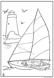 Summer Seal Boat Coloring Pages