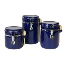 blue kitchen canister sets decorating clear
