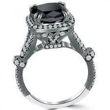 new diamonds rings images 4 28 carat cushion cut black diamond ring 18k black gold pave halo jpg