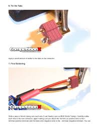 competitionx how to changing connectors on your battery and esc