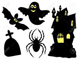 halloween silhouettes collection vector illustration royalty