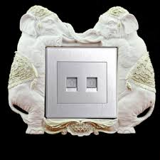 single light switch socket finger plates surround wall protector