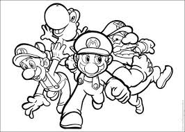 mario brother coloring pages print download super mario brothers