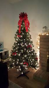 christmas tree with white lights and red bows 6ft pre lit xmas tree from target red bow decorative pieces my