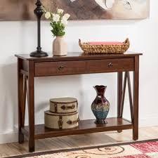 brown console u0026 sofa tables you u0027ll love wayfair
