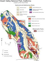 California Fault Map Geologic Map Of Death Valley National Park California