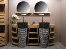meuble de salle de bain original aco meuble de salle de bain en teck florence vasques 430