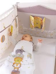 chambre b b vertbaudet tour de lit spécial éveil bébé thème quel cirque taupe blanc