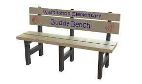 Recycled Plastic Benches For Schools Buddy Bench Low Seat Height Barco Products