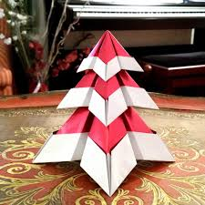 Origami Gift Wrapping Origami Snowy Christmas Tree With Gift Wrapping Paper Flickr
