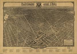 Maps Of Washington Dc by Amazing Map Of Washington By The B U0026o Railroad 1921 Ghosts Of Dc