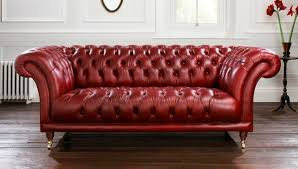 Leather Sofas Sheffield Chesterfield Sofa Leather 2 Seater Red Goodwood