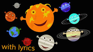 the solar system song with lyrics youtube