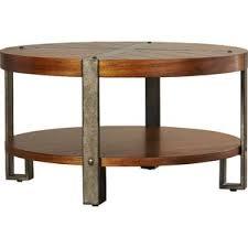Round Coffee Table With Shelf Round Coffee Tables Joss U0026 Main