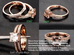 engagement jewelry sets 582 asscher morganite engagement ring sets pave diamond wedding