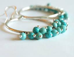 Beaded Turquoise Chandelier Large Hoop Earrings With Turquoise Hoop Earrings Turquoise