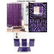 Purple Bathroom Rug Complete Bath Accessory Set Purple Zebra Printed Bathroom Rugs
