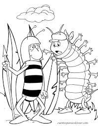 imagenes mayas para imprimir para colorear abeja maya