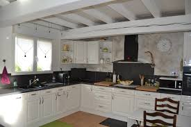 cuisine en chene blanchi meuble haut cuisine chene blanchi idée de modèle de cuisine