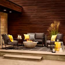 Fireplace And Patio Shop Ottawa Shop Allen Roth Norland 4 Piece Patio Conversation Set At Lowe U0027s