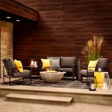 4 piece patio furniture sets shop allen roth norland 4 piece patio conversation set at lowe u0027s